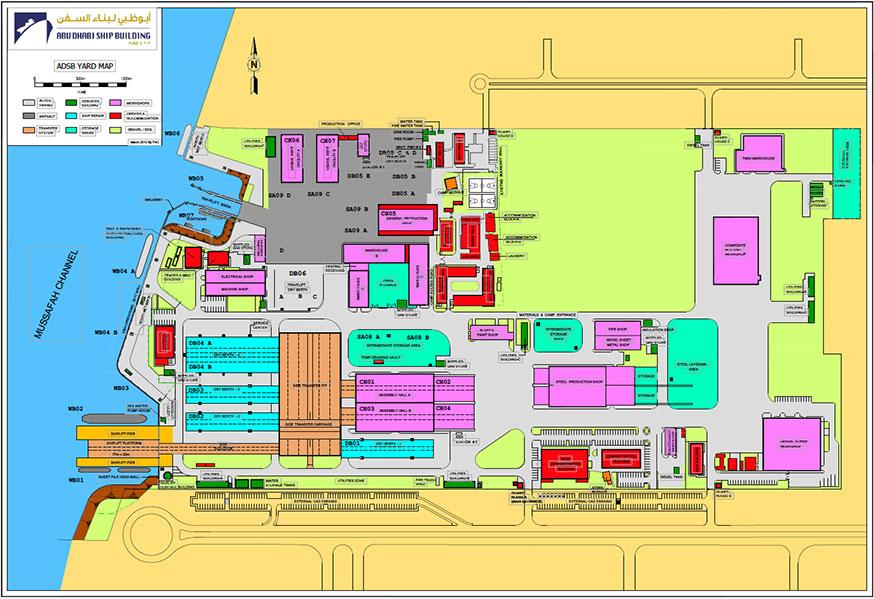Abu Dhabi shipyard at United Arab Emirates   BSA Shipping